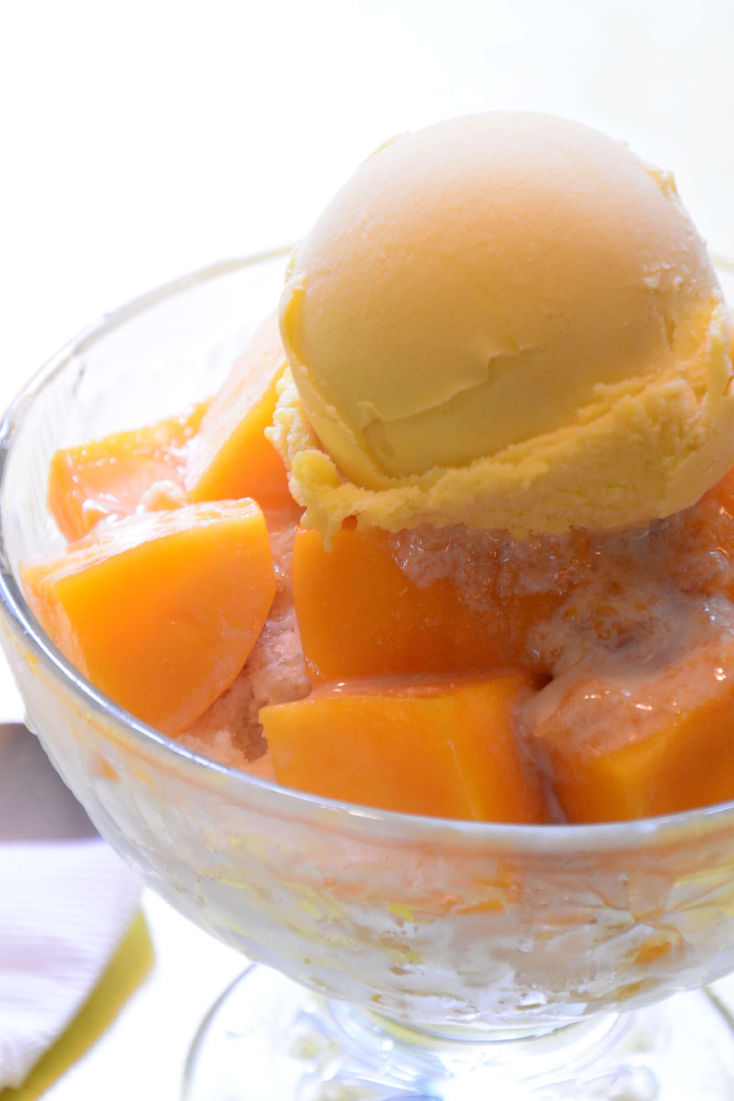 「百果園」のお上品なマンゴーかき氷