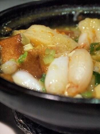 豊華小館蟹みそと筍の豆腐煮込み