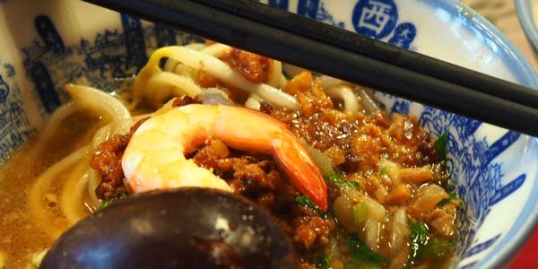 台南といえば度小月の担仔麺